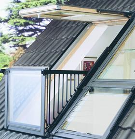 Мансардные окна Velux.Окно-балкон