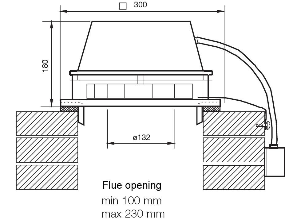 VILPE TI-17 каминный вентилятор.Проектировщикам