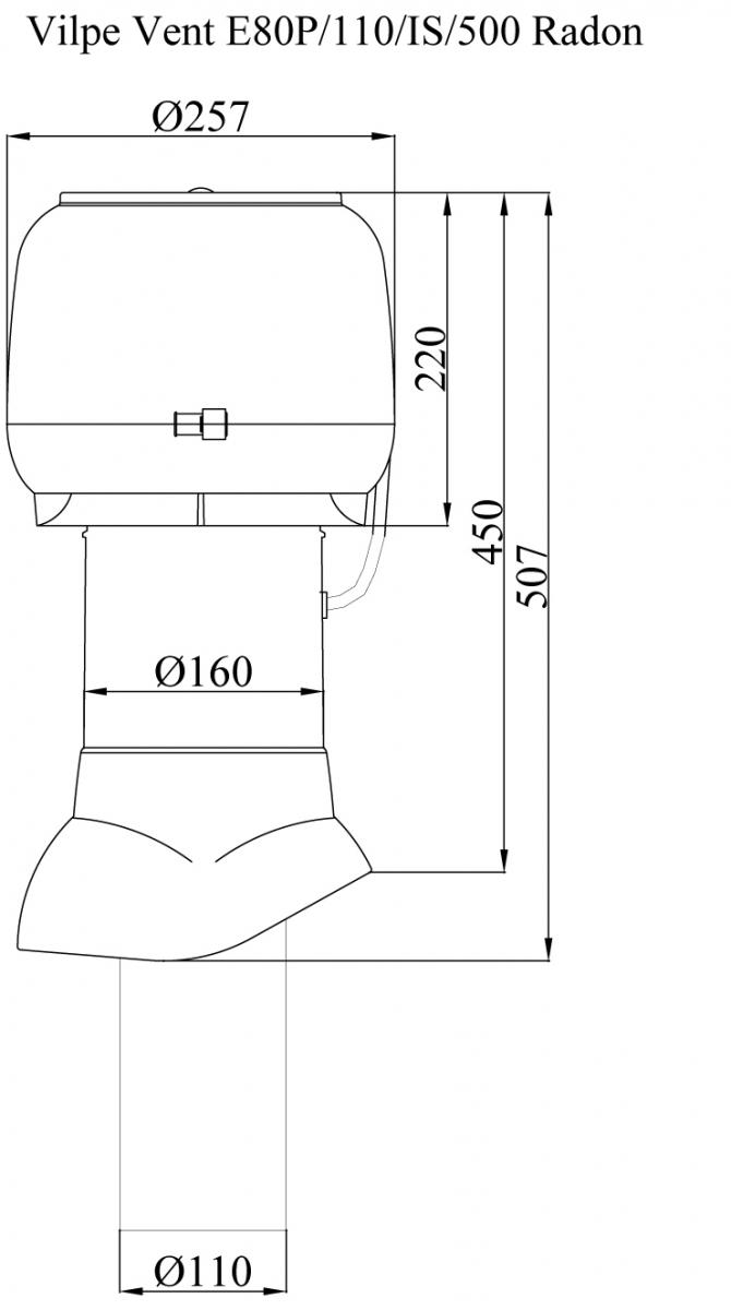 Р 110/500 радон-вентилятор.Проектировщикам