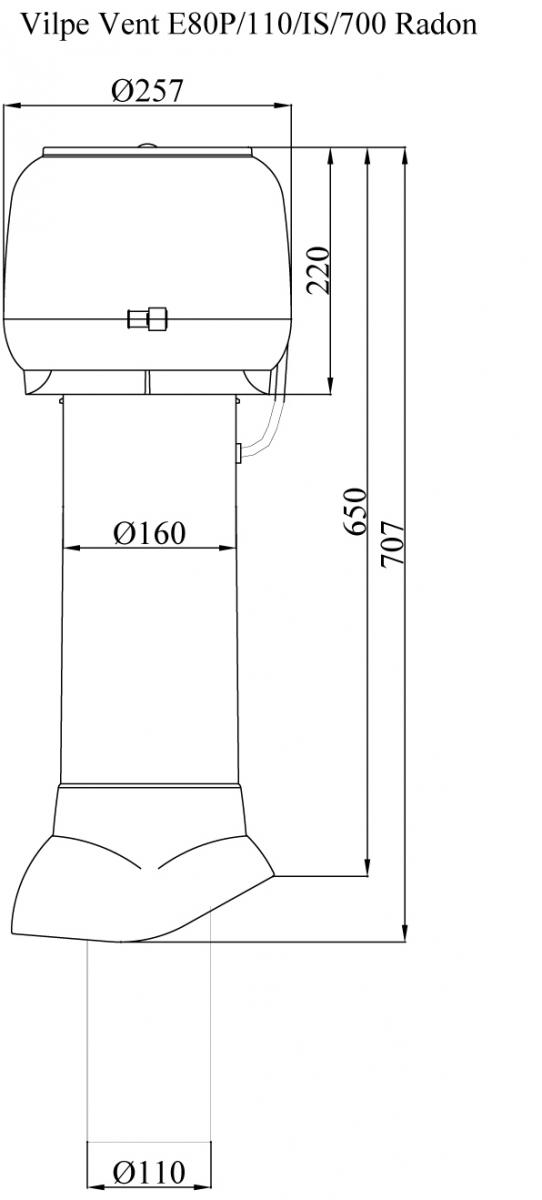 Р 110/700 радон-вентилятор.Проектировщикам